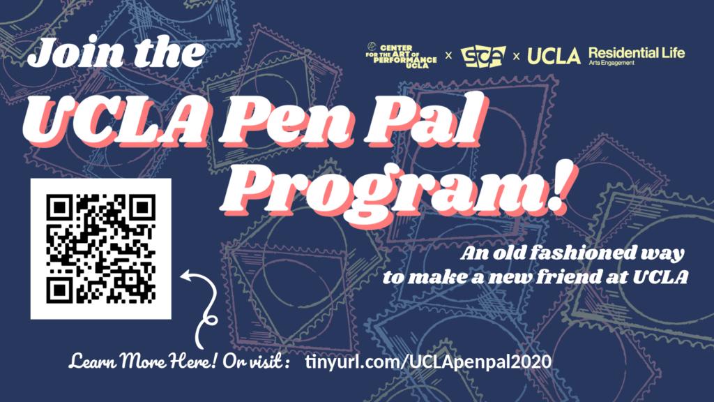 UCLA Pen Pal Program Flyer with QR Code