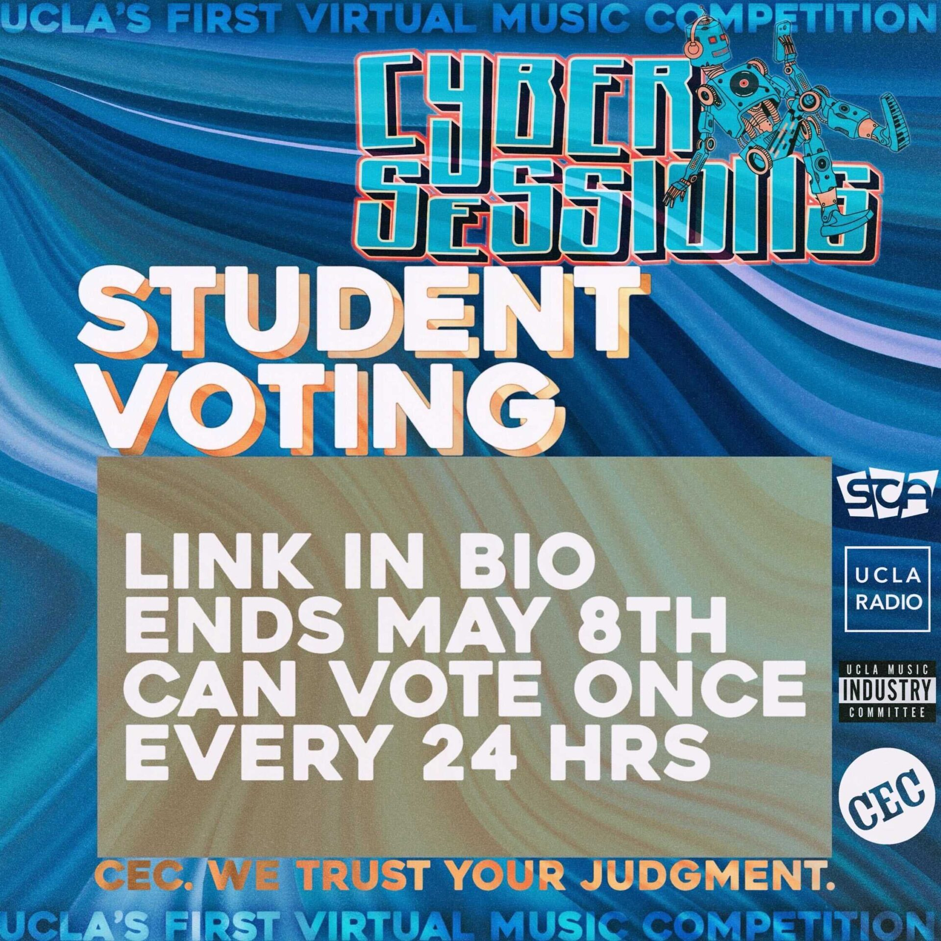 Cyber Sessions Virtual Music Competition Student Voting